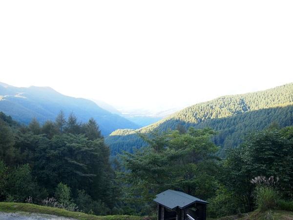 分杭峠からの風景