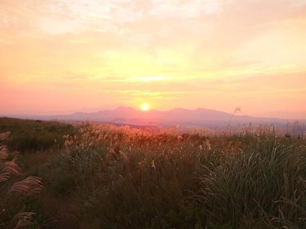 阿蘇の夕陽