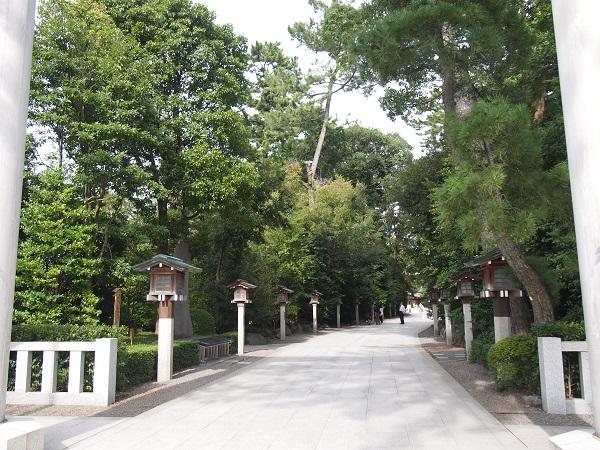 寒川神社参道