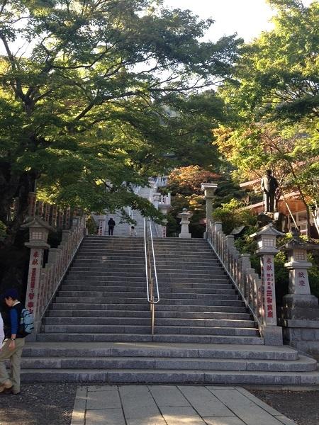 大山阿夫利神社参道の石段