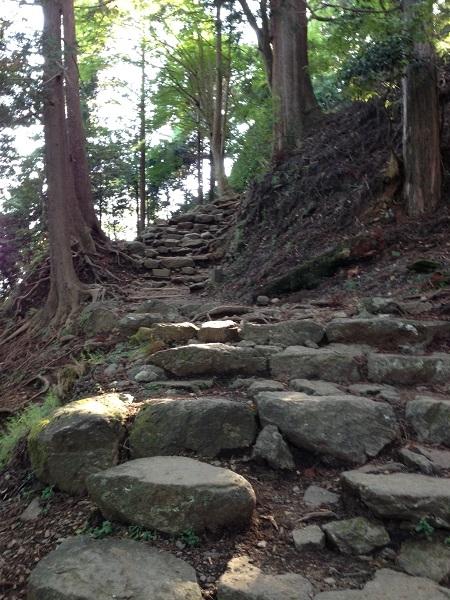 大山阿夫利神社奥の院への坂道