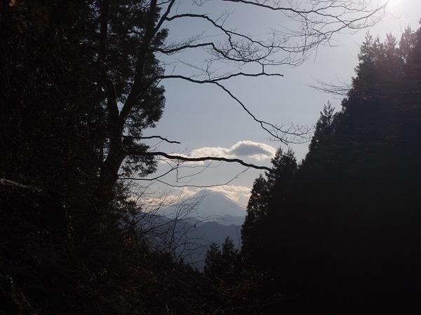 軍刀利神社奥ノ院からの富士