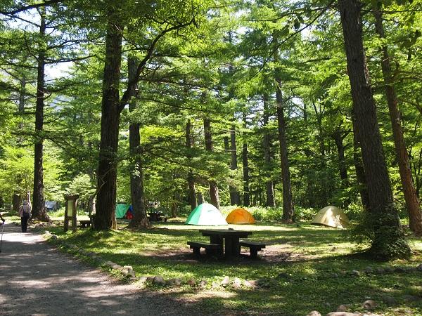 上高地キャンプ