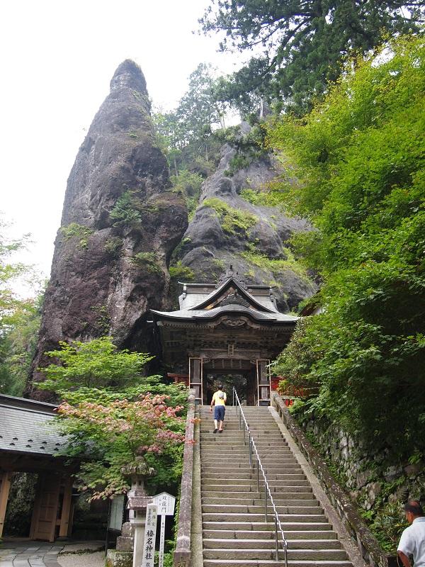 榛名神社 双龍門と鉾岩