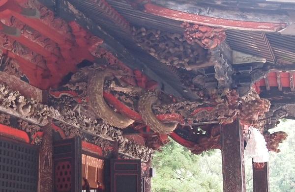 榛名神社 拝殿の龍