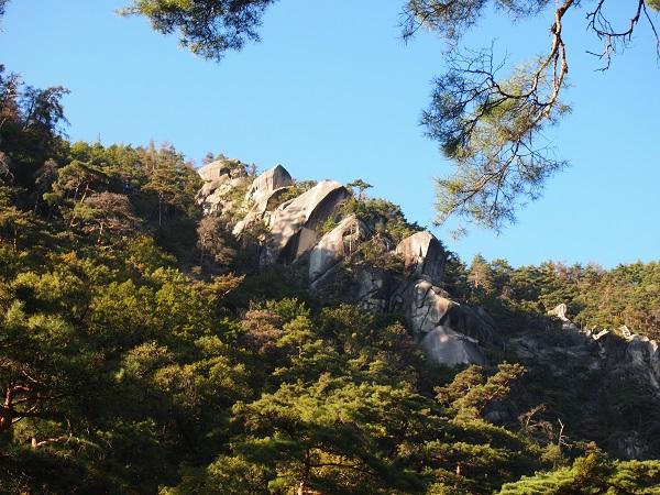 御岳昇仙峡岩