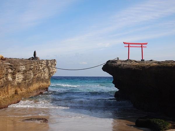 白浜神社ー海岸