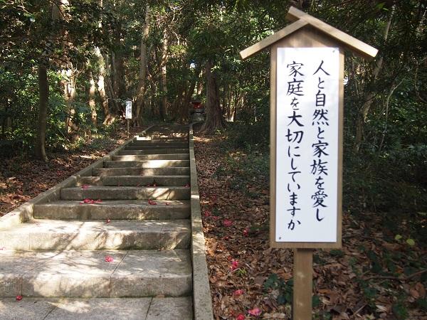 白浜神社本殿へ向かう